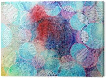 Canvastavla Färgade cirklar konstillustration