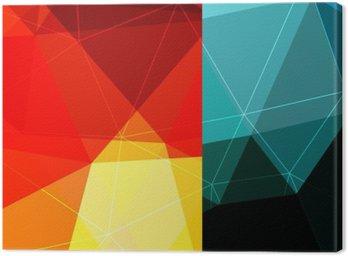 Canvastavla Färgblock bakgrund