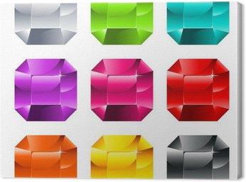 Canvastavla Färgglada glänsande juveler