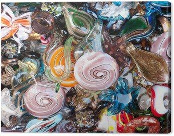 Canvastavla Färgglada venetianska glas juveler