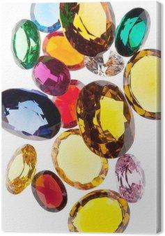 Canvastavla Färggranna juveler