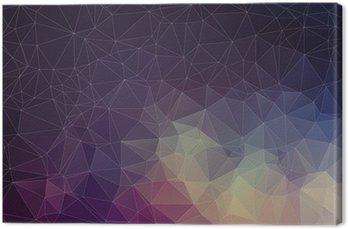 Canvastavla Färgrik geometrisk bakgrund med trianglar