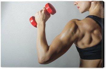 Canvastavla Fitness kvinna