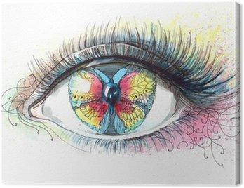 Canvastavla Fjäril i ögat (serie C)