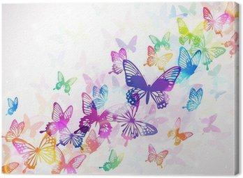 Canvastavla Fjäril