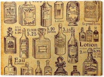 Canvastavla Flaskor och parfym