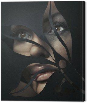 Canvastavla Formad porträtt av en vacker kvinna