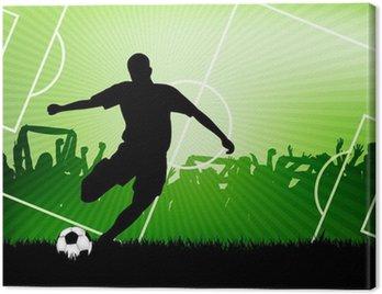Canvastavla Fotboll bakgrund