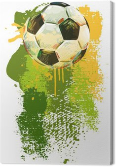 Canvastavla Fotboll boll Banner .__ Alla delar är i separata lager och grupperas. __