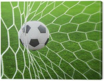 Canvastavla Fotboll i mål