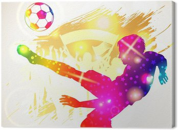 Canvastavla Fotbollsspelare