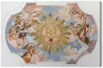 Canvastavla Fresco änglar