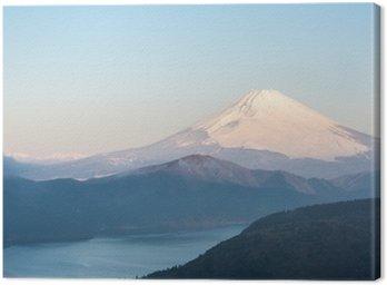 Canvastavla Fuji Mountain Lake Hakone Sunrise