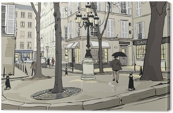Canvastavla Furstemberg torg i Paris
