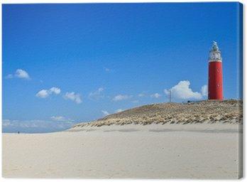 Canvastavla Fyr i sanddynerna på stranden