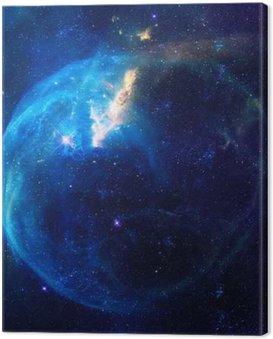 Canvastavla Galaxy illustration, utrymme bakgrund med stjärnor, nebulosa, kosmos moln