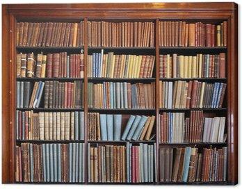 Canvastavla Gamla biblioteket bokhylla