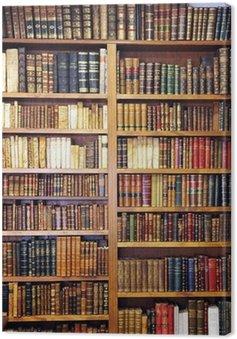 Canvastavla Gamla böcker, bibliotek
