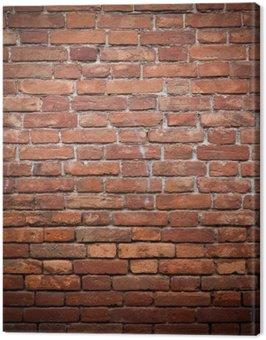Canvastavla Gamla grunge röda tegel vägg konsistens