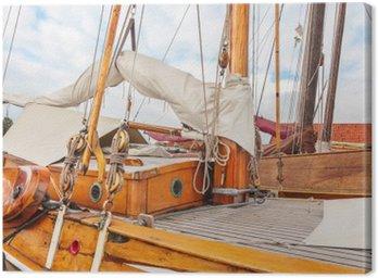 Canvastavla Gamla trä segelbåt i Nederländerna