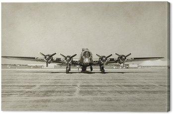 Canvastavla Gammal bombplan framifrån