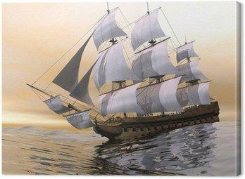 Canvastavla Gammal handelsfartyg - 3, render