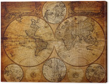 Canvastavla Gammal karta (1746)