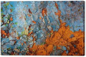 Canvastavla Gammal målad vägg