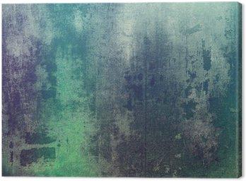 Canvastavla Gammal struktur som abstrakt grungebakgrund. Med olika färgmönster: grön; lila (lila); grå; cyan