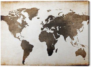 Canvastavla Gammal världskartan