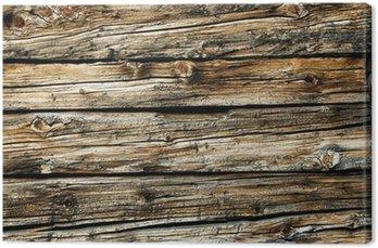 Canvastavla Gammalt trä