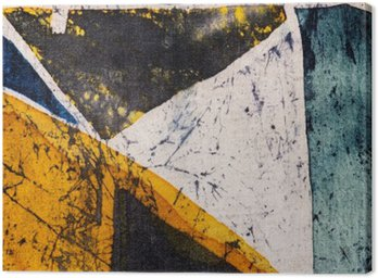 Canvastavla Geometri, varm batik, bakgrund textur, handgjorda på siden, abstrakt surrealismkonst