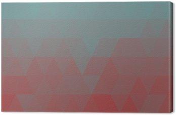 Canvastavla Geometrisk blå låga poly bakgrund