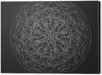 Canvastavla Geometrisk element_star pattern_vector_line utformning