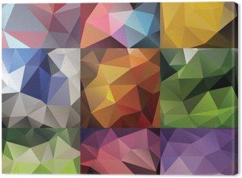 Canvastavla Geometriska triangel stor uppsättning