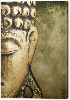 Canvastavla Golden Buddha