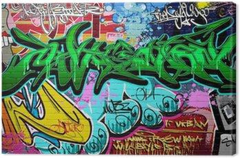 Canvastavla Graffiti Art Vektor bakgrund. Urban vägg