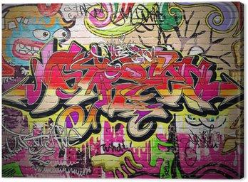 Canvastavla Graffiti Art Vektor Bakgrund