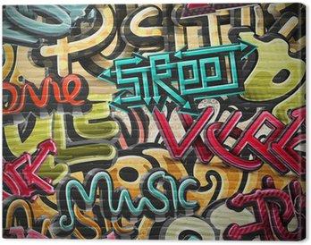 Canvastavla Graffiti bakgrund