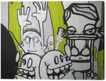 Canvastavla Graffiti - Helmi freaks