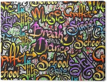 Canvastavla Graffiti ordet sömlösa mönster