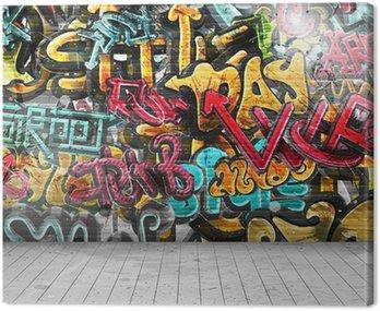 Canvastavla Graffiti på väggen