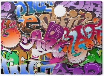 Canvastavla Graffiti sömlös bakgrund