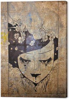 Canvastavla Graffiti - street art