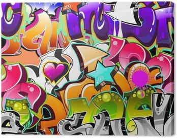 Canvastavla Graffiti Urban Art Bakgrund. Sömlös konstruktion