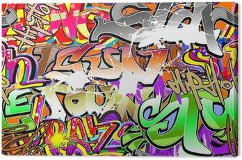 Canvastavla Graffiti urban konst sömlös bakgrund