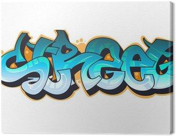 Canvastavla Graffiti urban konst