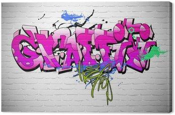 Canvastavla Graffiti vägg bakgrund, urban konst