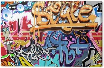 Canvastavla Graffiti vägg. Urban art vektor bakgrund. Sömlös textur