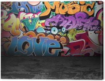 Canvastavla Graffiti vägg urban street art målning